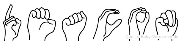 Deacon in Fingersprache für Gehörlose