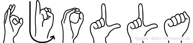 Fjolla in Fingersprache für Gehörlose
