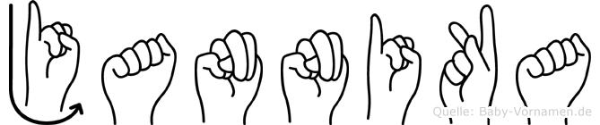 Jannika in Fingersprache für Gehörlose
