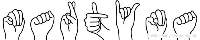Martyna in Fingersprache für Gehörlose