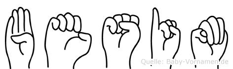 Besim in Fingersprache für Gehörlose