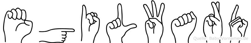 Egilward im Fingeralphabet der Deutschen Gebärdensprache