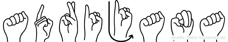 Adrijana im Fingeralphabet der Deutschen Gebärdensprache