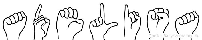 Adelisa in Fingersprache für Gehörlose