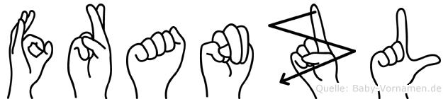 Franzl im Fingeralphabet der Deutschen Gebärdensprache