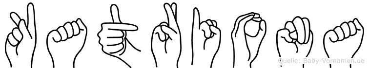 Katriona im Fingeralphabet der Deutschen Gebärdensprache