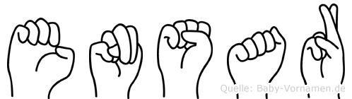 Ensar in Fingersprache für Gehörlose