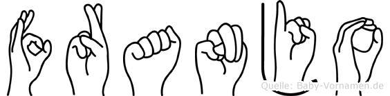 Franjo im Fingeralphabet der Deutschen Gebärdensprache
