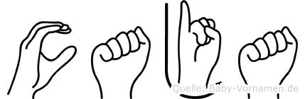 Caja im Fingeralphabet der Deutschen Gebärdensprache