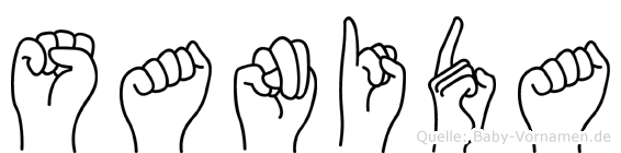 Sanida im Fingeralphabet der Deutschen Gebärdensprache