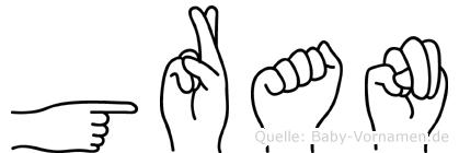 Göran in Fingersprache für Gehörlose