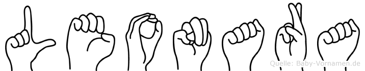 Leonara in Fingersprache für Gehörlose