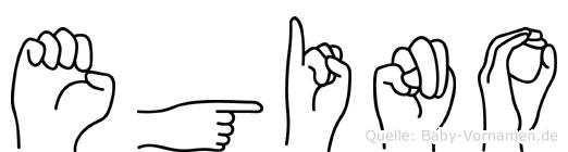 Egino in Fingersprache für Gehörlose
