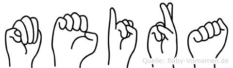 Meira in Fingersprache für Gehörlose