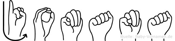 Jomana im Fingeralphabet der Deutschen Gebärdensprache