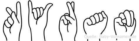 Kyran in Fingersprache für Gehörlose