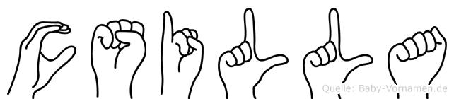 Csilla in Fingersprache für Gehörlose