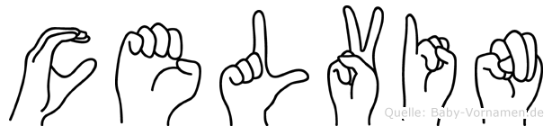 Celvin in Fingersprache für Gehörlose