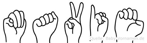 Mavie in Fingersprache für Gehörlose