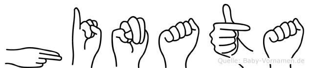 Hinata im Fingeralphabet der Deutschen Gebärdensprache