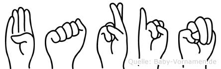 Barin im Fingeralphabet der Deutschen Gebärdensprache