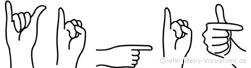 Yigit in Fingersprache für Gehörlose