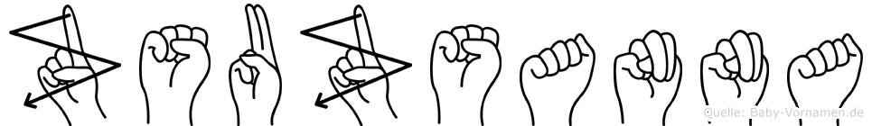Zsuzsanna in Fingersprache für Gehörlose