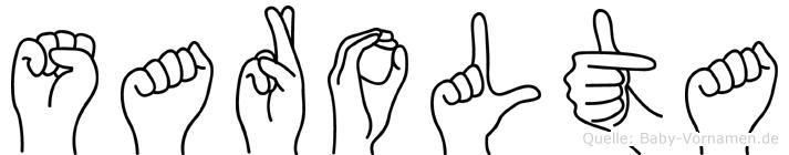 Sarolta in Fingersprache für Gehörlose