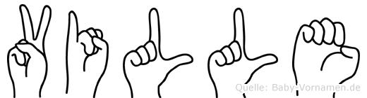 Ville in Fingersprache für Gehörlose