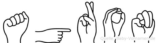 Agron in Fingersprache für Gehörlose