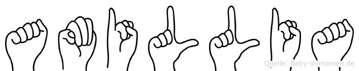 Amillia in Fingersprache für Gehörlose