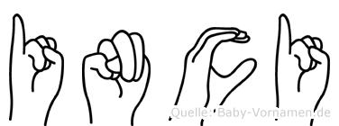 Inci in Fingersprache für Gehörlose