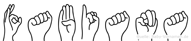 Fabiana im Fingeralphabet der Deutschen Gebärdensprache