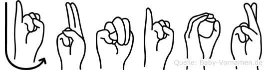 Junior in Fingersprache für Gehörlose