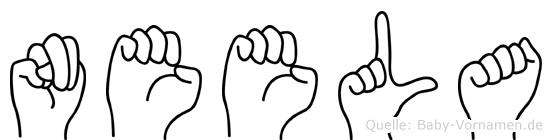 Neela im Fingeralphabet der Deutschen Gebärdensprache