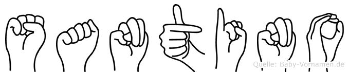 Santino in Fingersprache für Gehörlose
