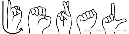 Jeral in Fingersprache für Gehörlose