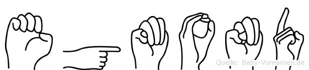 Egmond im Fingeralphabet der Deutschen Gebärdensprache