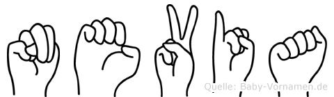Nevia in Fingersprache für Gehörlose