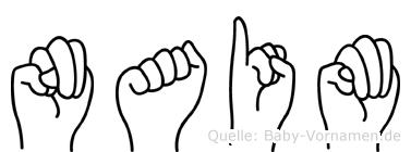 Naim im Fingeralphabet der Deutschen Gebärdensprache