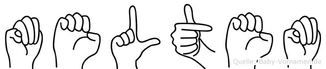 Meltem im Fingeralphabet der Deutschen Gebärdensprache