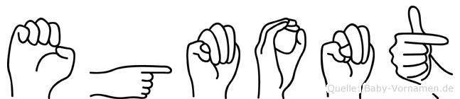Egmont im Fingeralphabet der Deutschen Gebärdensprache