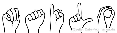 Mailo im Fingeralphabet der Deutschen Gebärdensprache