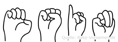 Esin im Fingeralphabet der Deutschen Gebärdensprache