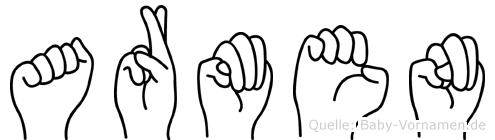 Armen im Fingeralphabet der Deutschen Gebärdensprache