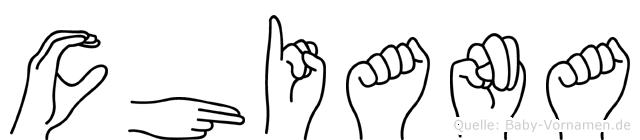 Chiana in Fingersprache für Gehörlose
