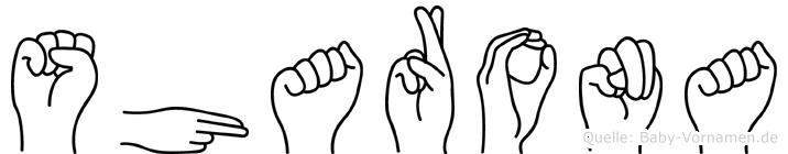Sharona in Fingersprache für Gehörlose