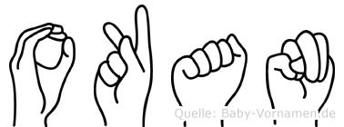 Okan in Fingersprache für Gehörlose