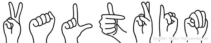 Valtrim im Fingeralphabet der Deutschen Gebärdensprache