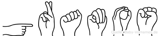 Gramos in Fingersprache für Gehörlose